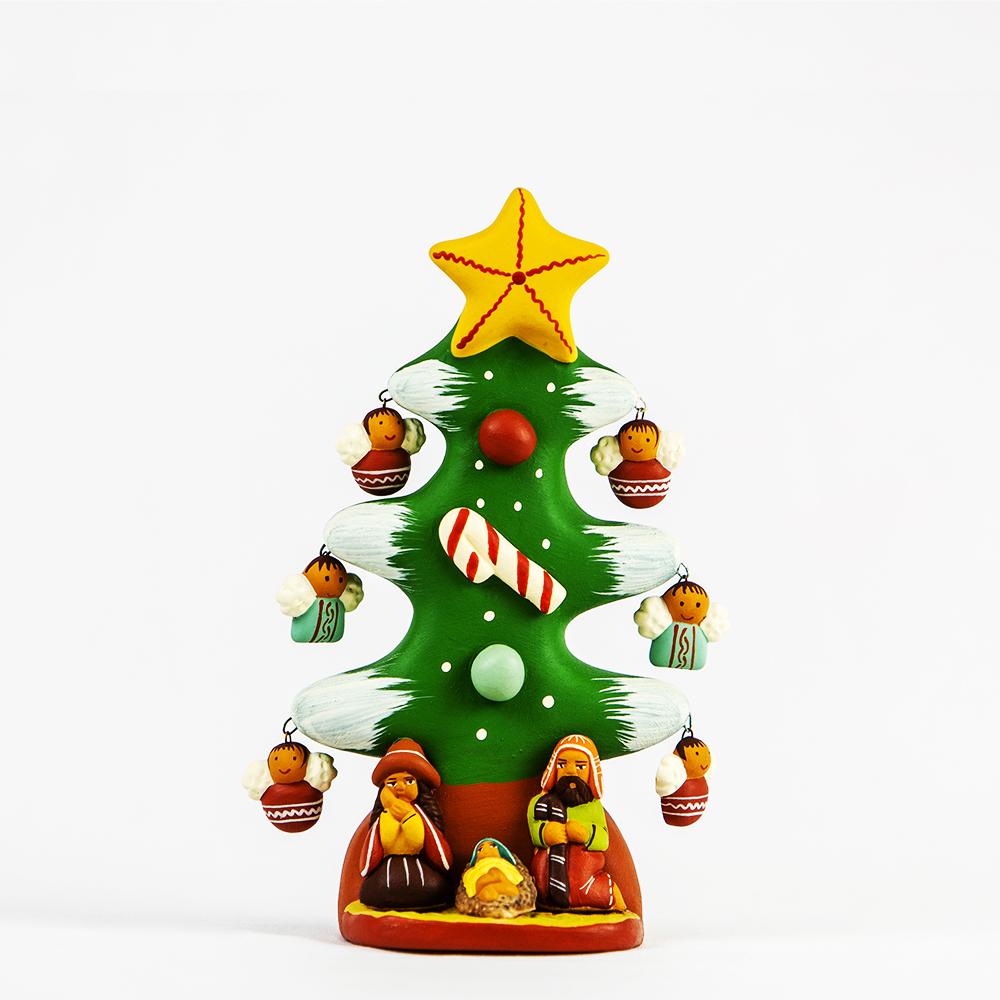 Alberello Natale.Alberello Di Natale Con Presepe Apurimac Ets