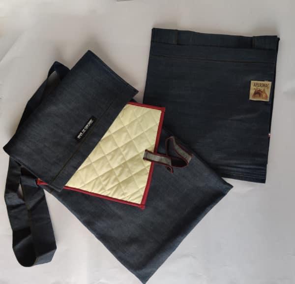 Apurimac it - Idee solidali - Inseparabile in Jeans + porta iPad - Made in carcere